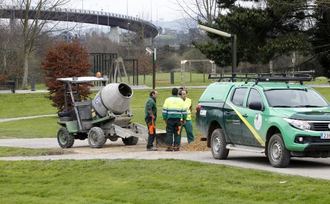 El parque fluvial de Viesques, en obras para mejorar su accesibilidad