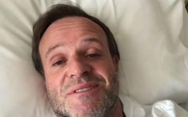 Barrichello se recupera de una operación en el cerebro