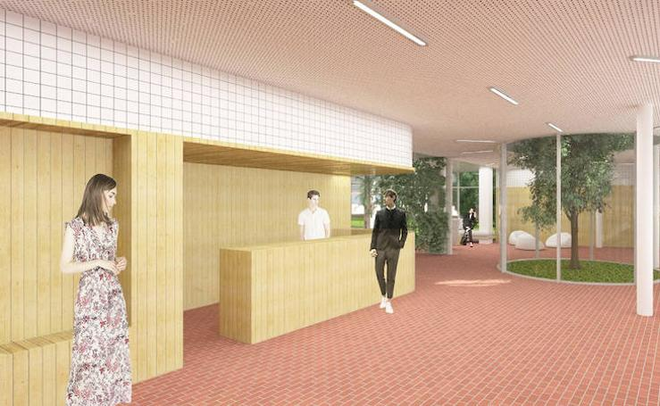 Imágenes de la futura residencia universitaria de Gijón