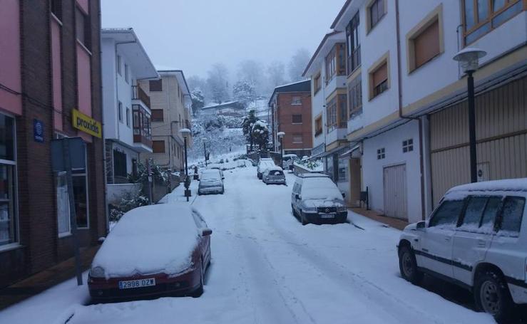 Nieve, frío y lluvia en Asturias