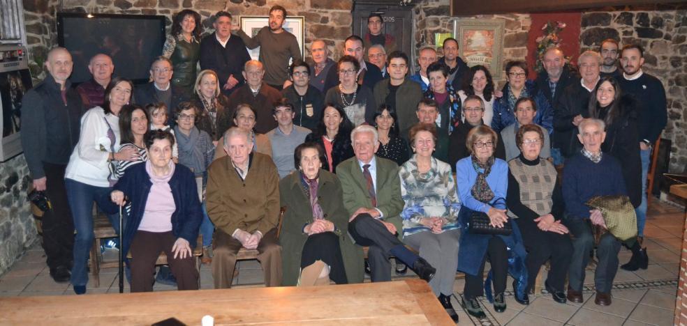 90 cumpleaños de Nicanor Vázquez con su familia