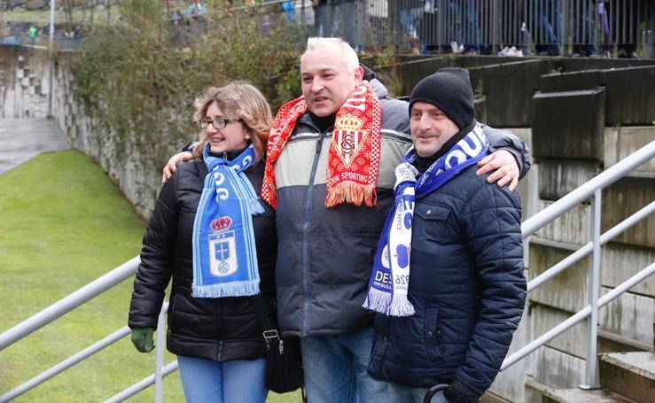 Las aficiones del Oviedo y del Sporting, a las puertas del Carlos Tariere