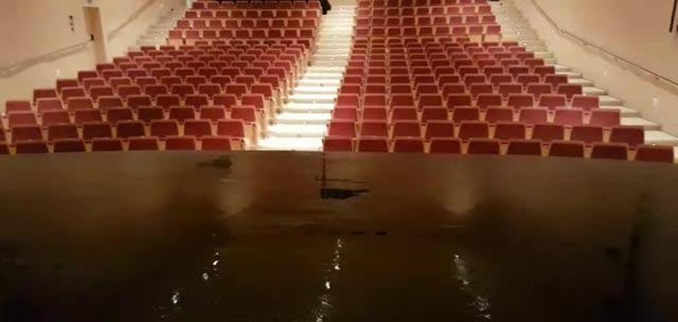 Goteras en el Auditorio Teodoro Cuesta de Mieres