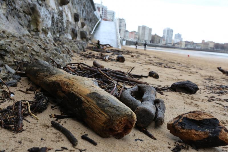 Los efectos del temporal Gijón