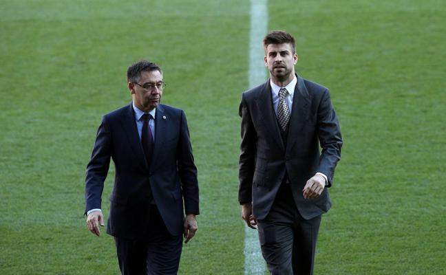 Bartomeu: «La celebración de Piqué fue normal»