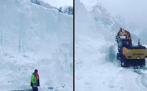 El espectacular muro de nieve en San Isidro se hace viral