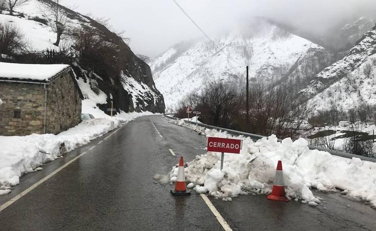 La nieve y el frío gélido dejan estas imágenes de Asturias