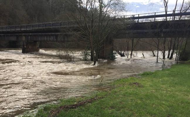 Alerta en Pravia ante la amenaza de desbordamiento del río Narcea