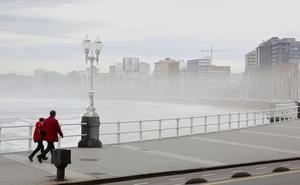 La niebla y el calor se adueñan de Asturias