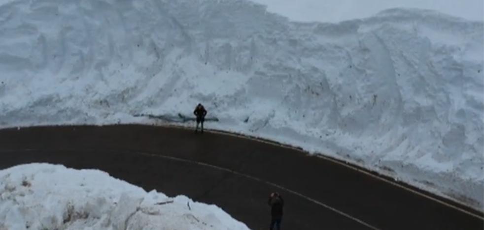 San Isidro, el laberinto de nieve asturiano