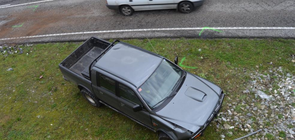 Herida en una colisión en Penlés
