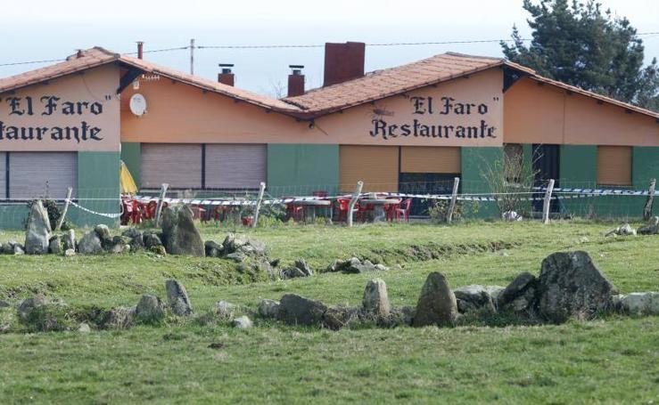 El restaurante El Faro de Tazones está precintado para garantizar la seguridad