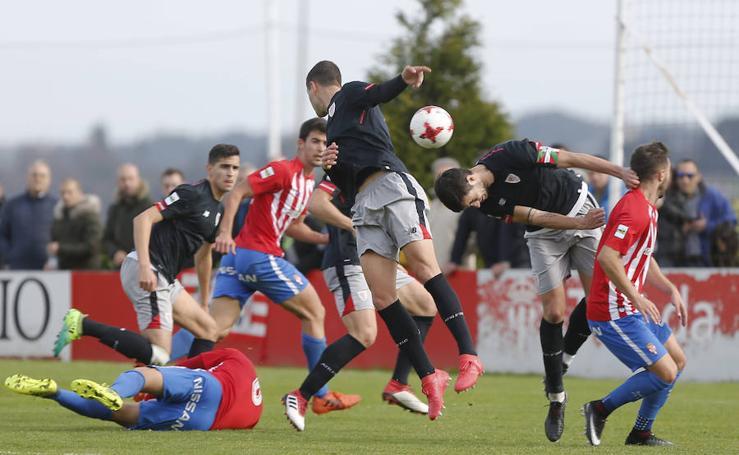 Las imágenes del Sporting B - Bilbao Athletic