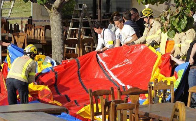 El hinchable en el que murió una niña en Girona era de «mala calidad» y estaba «mal montado»