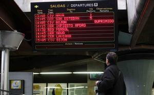 Cuarto día de cancelaciones en Feve por falta de repuestos