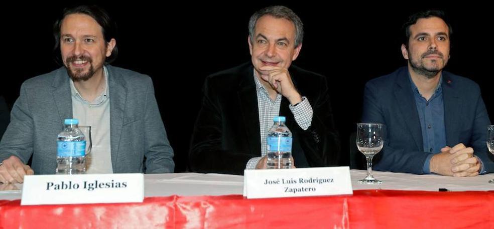 Zapatero e Iglesias apoyan juntos la reelección de Evo Morales