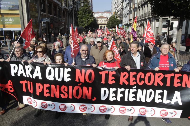 Manifestación en Oviedo por unas «pensiones dignas»