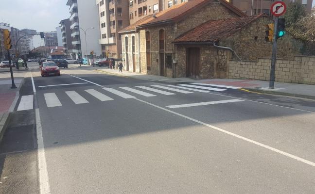 Finalizadas las obras en los pasos de cebra de la avenida Principado