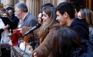 Amaia, de 'Operación Triunfo', emocionada ante el recibimiento en Pamplona: «Estoy flipando»