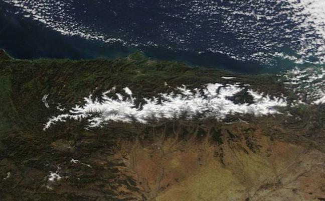 La nieve de Asturias, vista desde el cielo