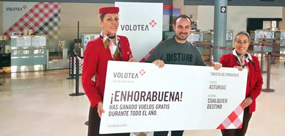 David Carus, ganador en Asturias del concurso de Volotea para viajar gratis durante un año