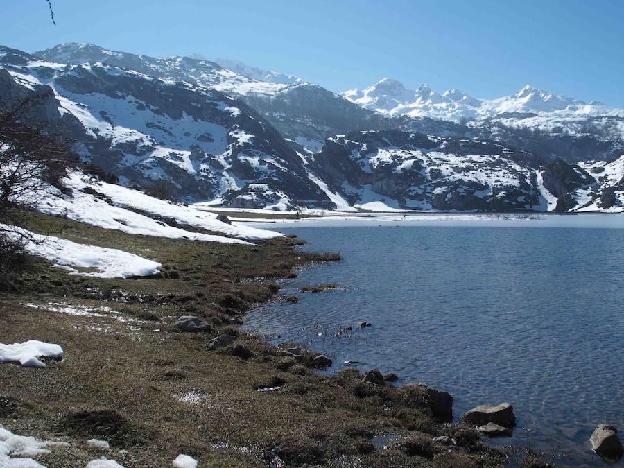 La belleza helada de los Lagos de Covadonga