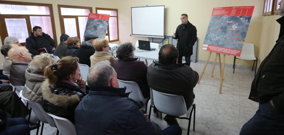 Corvera solicita la cesión de varios terrenos para ejecutar el saneamiento de Solís