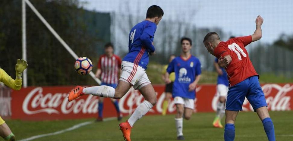 El Sporting derrota al Oviedo en el derbi juvenil