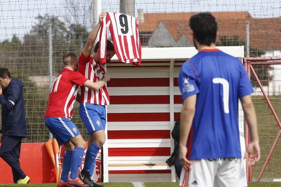 El Sporting se lleva la victoria ante el Oviedo en el derbi juvenil