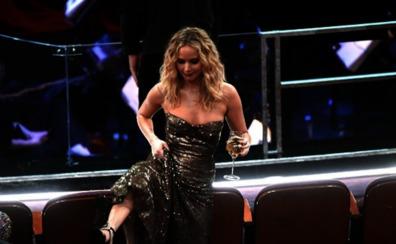 Jennifer Lawrence, protagonista de la foto más comentada de los Oscar
