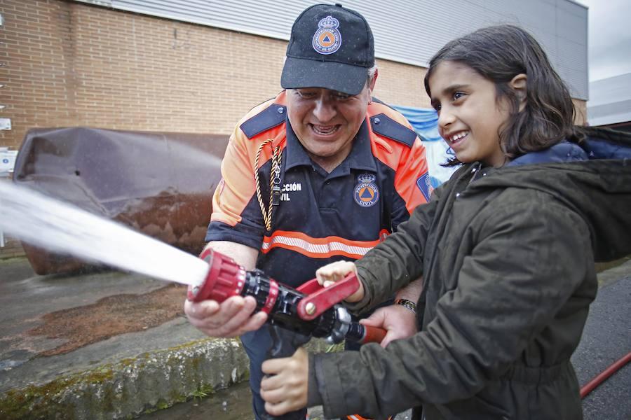 El parque de bomberos de Gijón desvela sus secretos