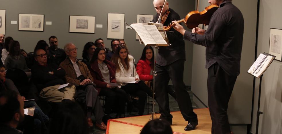 Un dúo de cuerda para los 35 años del museo