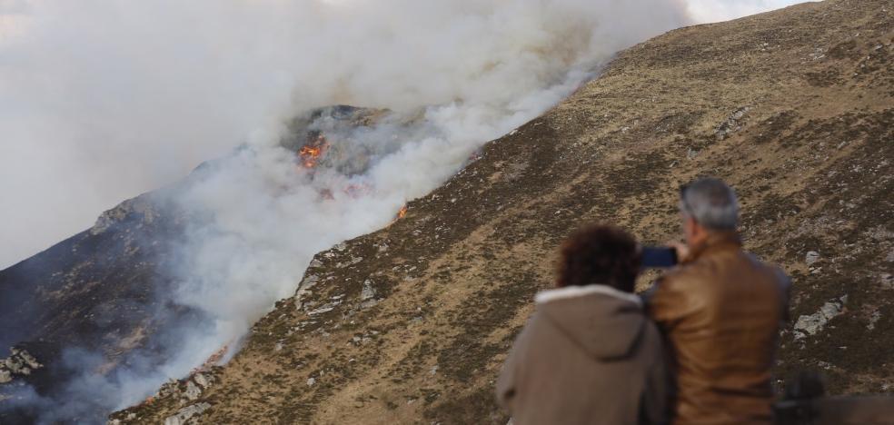 Incendio en pleno Parque de los Picos de Europa