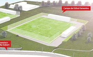 La compleja orografía eleva el coste del campo de fútbol femenino a 3,7 millones