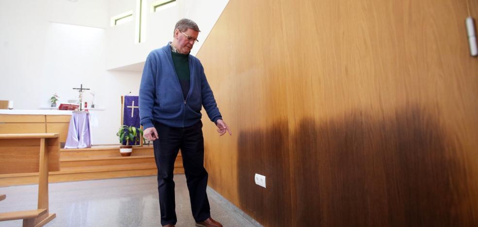 La iglesia de La Florida padece «humedades por todas partes»