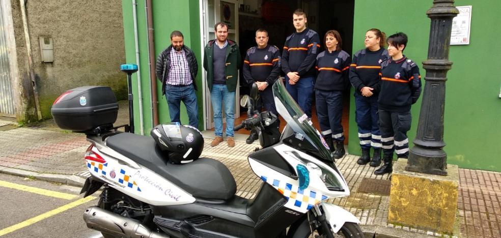Una nueva moto permitirá mejorar las intervenciones de Protección Civil Piloña