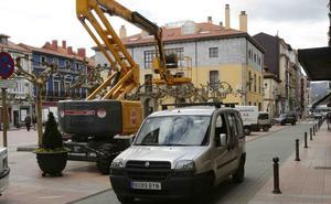 Comienza la reordenación de aparcamientos previa a la zona azul de Ribadesella