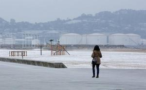 Nieve a nivel del mar tras el paso de 'Gisele'