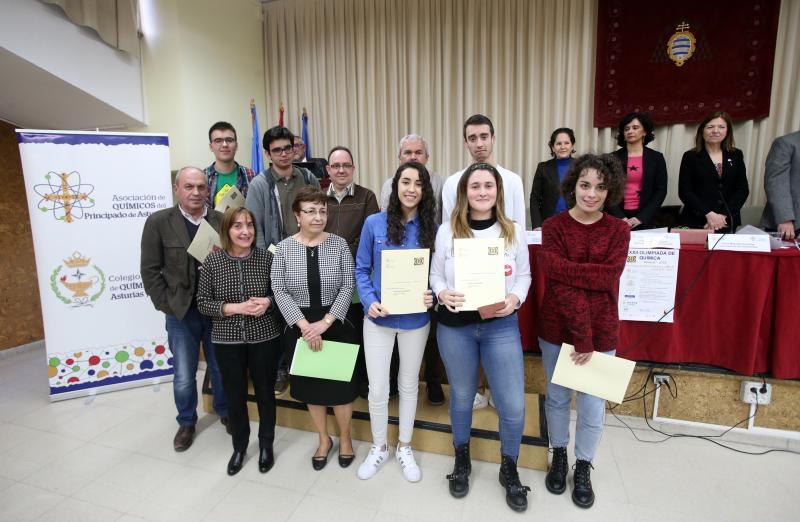 Entrega de diplomas de la XXXII Olimpiada de Químia de Bachillerato