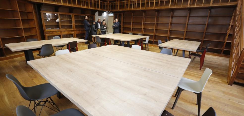 La Escuela de Comercio de Gijón, ya amueblada, funcionará a pleno rendimiento en junio
