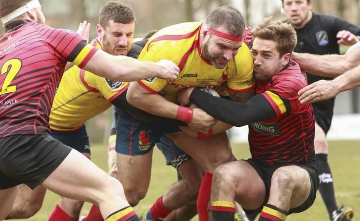 Las mejores imágenes del Bélgica-España de rugby
