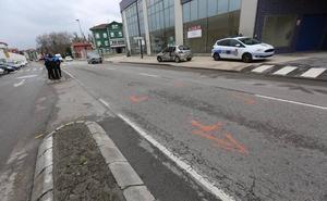 Dos heridos en un choque en la avenida de Lugo