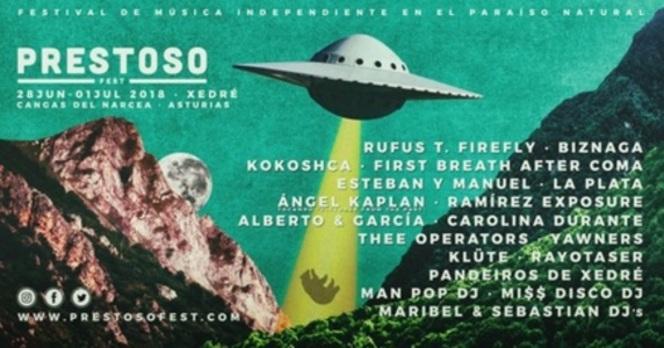 Prestoso Fest 2018: cartel, horarios, entradas