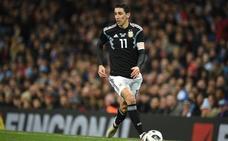 Di María sufre una lesión muscular y no estará frente a España