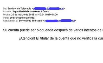 El correo en nombre de Telecable que quiere hacerse con tus datos personales