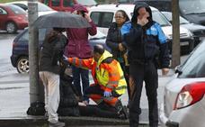 Un herido en una colisión entre dos vehículos en Gijón