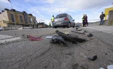 Un choque por alcance en Grado provoca daños en dos coches