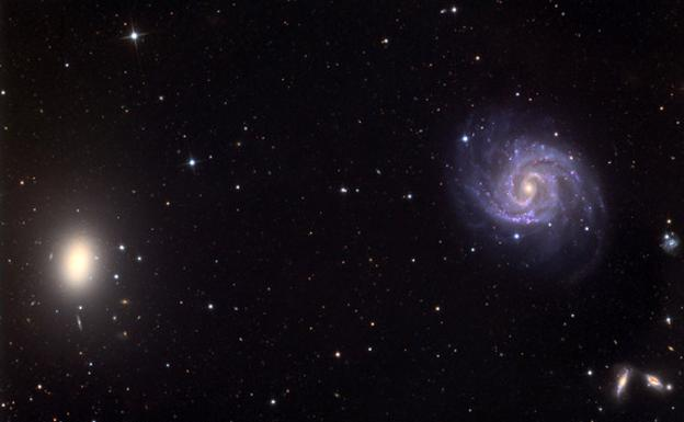 Entorno de la galaxia NGC1052-DF2./University of Arizona