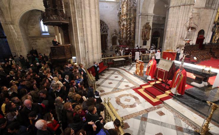 El Santo Sudario se exhibe en la Catedral