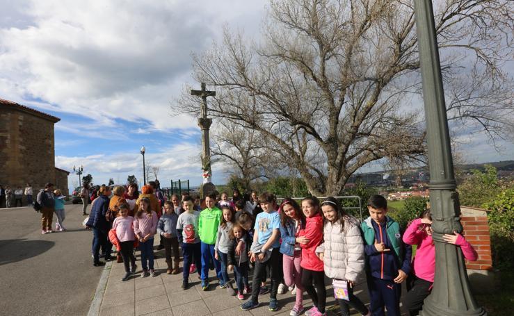 Peregrinación en honor a la Virgen de Covadonga